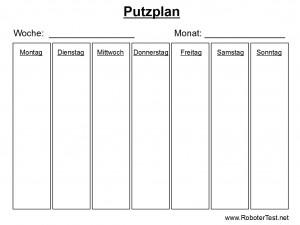 Putzplan Vorlage 1