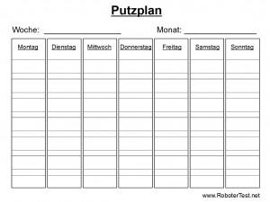 Putzplan Vorlage 2