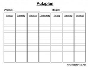Putzplan Vorlage 3