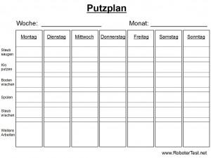 Putzplan Vorlage 4