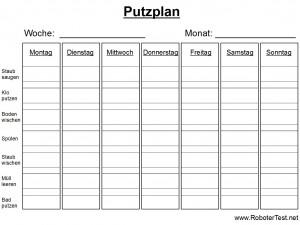 Putzplan Vorlage 5